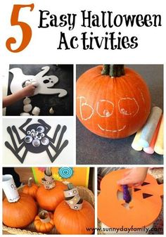 5 Easy Halloween activities for toddlers and preschoolers -simple to set up and lots of fun!