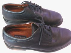 Bostonian Stadium Oxford Shoes Black Pebbled Leather Very Soft Size 11.5 M EUC Free Shipping!