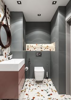 Spa bathroom: discover tips on how to decorate and see 60 ideas - Home Fashion Trend Modern Bathroom, Small Bathroom, Budget Bathroom, Terrazzo, Bathroom Interior Design, Bathroom Inspiration, Home Deco, House Design, Decoration