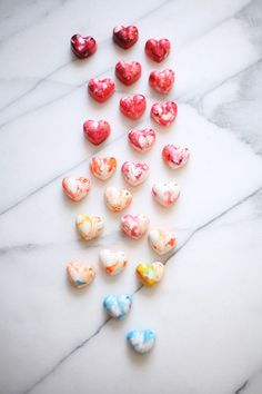 DIY heart crayons for Valentine's Day