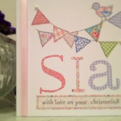 Christening card at www.thingsilove.me