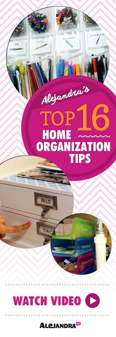 Alejandra's Best #Organization Tips For 16 Spaces In Your Home
