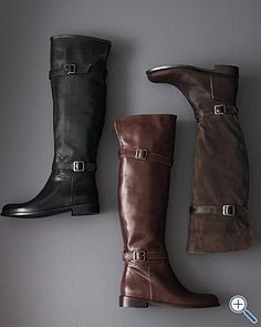 Isabella Tall Riding Boots, $198.00... Ouch!  Why are great boots(that I would love to own) so expensive??!??  (I don't care for the top buckle on these)