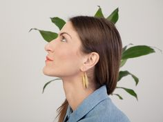 FOLKDAYS // Golden Leaf Earrings