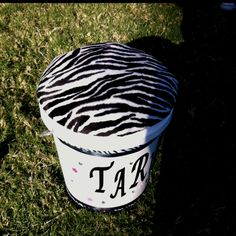 Storage SEAT!! amazing idea, elementary school cheer team took buckets from home depot with lids that fit inside. Stuffed and covered the lid to make a seat, decorated the outside with name and glitter!! Waalaa storage for pompoms, water bottles snacks and game day gear! No more mom asking where is everything, it should all be in your bucket!!!
