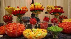 Fruit dessert table