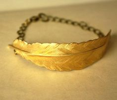 Feather Fly Bracelet..a little patina for your wrist