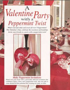 """American Girl Magazine - January 1993/February 1993 Issue - Page 33 (Part 1 of """"A Valentine Party with a Peppermint Twist"""")"""