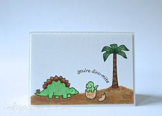 Lawn Fawn Critters from the Past clear stamp