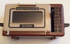 Vtg Doll House Miniature Hong Kong Arco Microwave Oven Brown Beige Working Lever