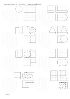 losmuertosdeldiedrico: PERSPECTIVA ISOMÉTRICA-croquis Isometric Drawing Exercises, Geometric Drawing, Technical Drawing, Drawing Lessons, Diagram, Drawings, Arch, Dibujo, Perspective