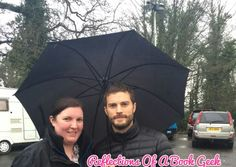"""Fan picture of Jamie from today on the set of """"The Fall"""""""