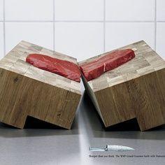 Impresionante anuncio de cuchillos