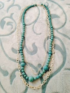 141516 inches drop 3 layered necklace beads and by kikaystore, $35.00