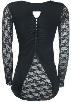 Morticia Longsleeve von Gothicana by EMP