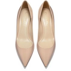 High-heeled shoe in nude patent calfskin leather - Dior ❤ liked on Polyvore featuring shoes, pumps, high heeled footwear, nude pumps, patent pumps, patent leather shoes and nude footwear