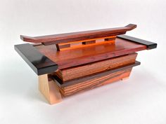 Small One Of A Kind Jewelry Box Of Varied Wood. by WoodShiva, $250.00