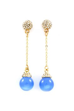 Christina Dangles in Crystal and Blue