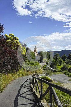 Polverara a little medieval village near la spezia