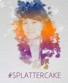 Splattercake: A Watercolor / spraypaint effect portrait on canvas. You send the photo, choose your colours and effects and we'll do the rest.  Available from http://cakeboxcreative.co.uk/personal-artwork-portraits/ #Art #DigitalArt #Canvas