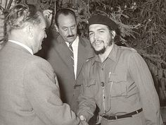 Josip Broz Tito president of SFRJ Yugoslavia with Che Guevara in Yugoslavia, 1959  Associated Press news agency covered the meeting between the President Tito and the Cuban goodwill delegation, headed by Ernesto Che Guevara.  They met on a Adriatic island of Brioni in the summer of 1959.