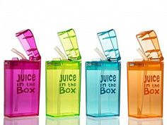 Juice in the box - Reusable Juice Box. BPA free.