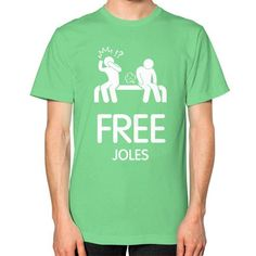Free Joles Men's T-shirt, American Apparel T-shirt, funny t-shirt, Homer t shirt (White Icon)