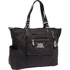 Juicy Couture Weekend Warriors Nylon Baby Bag Black