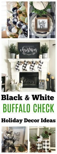 Buffalo Check Decor Ideas for Christmas, fall and year-round decorating