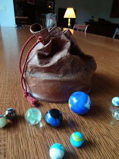 Vintage Leather Marble Bag on Etsy, $16.26 AUD