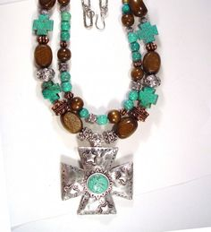 turquoise and wood jewelry