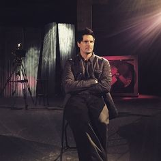 "Ghost Adventures: Zak Bagans on the set of ""Aftershocks""."
