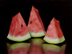Watermelon Reflections - Original Fine Art for Sale - © Clinton Hobart