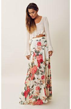 princess floral skirt
