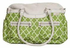 JJ Cole Collections Satchel Diaper Bag - Aspen Green Arbor | Designer Diaper Bags www.duematernity.com