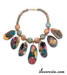 I LOVE RESIN: Multi Color Resin Swirl Baubles - Part Two