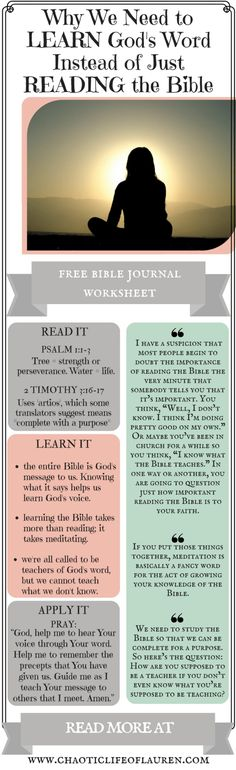 Christians must learn the Bible if they want to learn God's voice in their lives. | God's Voice | Devotional | Christian Lifestyle | Biblical Womanhood | Faith | Quotes