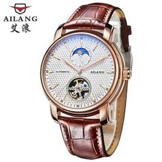 AILANG watches the new listing business dress watch automatic date men steel Tourbillon mechanical watch