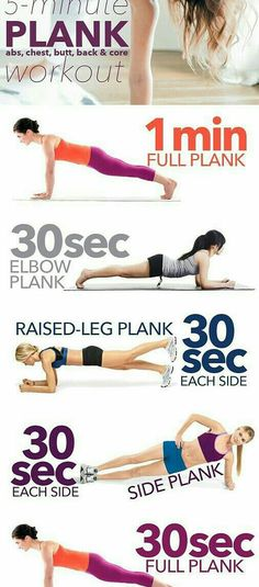 Flat Belly Plank exercices for a flat belly fat burning vitamins - With beach season nigh, we've already begun toning our muscles and glutes. Here are 17 of the best fitness workouts to get your sweat on. Fitness Workouts, Sport Fitness, Ab Workouts, Body Fitness, Fitness Diet, At Home Workouts, Health Fitness, Workout Routines, Cardio