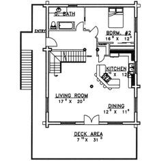 700 sq ft 2 bedroom floor plan 600 sq ft floor plan for Small house plans with mother in law suite
