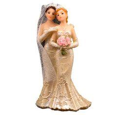 Topfigurer med lesbisk par, flot kagefigur til bryllupskagen. kr. 49,-#kagefigur #kage #bryllupskage #lesbisk