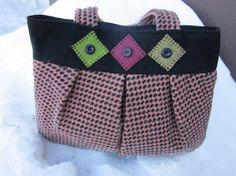 Wool handbag wool purse wool totebag by granniesraggedybags, $35.00