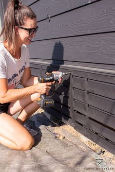Installing Deck Skirting - Taryn Whiteaker Cool Diy Projects, Outdoor Projects, Sanding Tips, Decorative Screen Panels, Deck Skirting, Yard Tools, Cordless Circular Saw, Large Planters, Marketing Professional