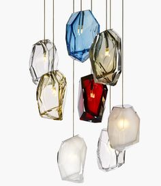 Crystal Rock lights by Arik Levy for Lasvit