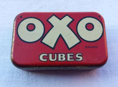 Oxo Cubes vintage tin. by essenzials on Etsy