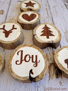 Wood Slice Ornaments - a Silhouette Project idea - perfect for Christmas gifts!