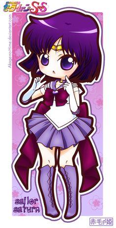 Sailor Moon Super S - Sailor Saturn by Akage-no-Hime.deviantart.com on @deviantART