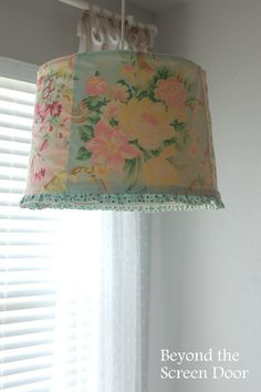 $7 Ribbon Tied Sheer Curtains for the Guest Bedroom | Beyond the Screen Door