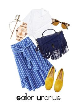 Sailor Uranus, Summer 2017 by blondasaurus on Polyvore featuring polyvore, fashion, style, T By Alexander Wang, Del Toro, Proenza Schouler, Movado, Ray-Ban and clothing