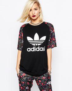 242e9e0d7141 Image 1 - Adidas Originals - Moscow - T-shirt avec imprimé fleurs et logo